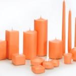velas naranjas